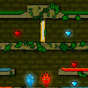 Играть Огонь и Вода в лесном храме онлайн