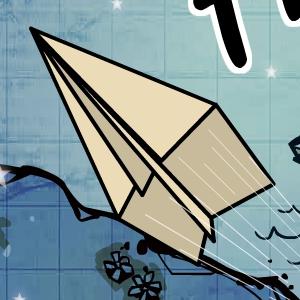 Играть Бумажный самолетик онлайн