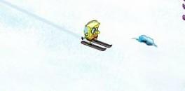 Играть Губка Боб побег от лавины онлайн