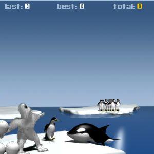 Играть ЙетиСпорт-Метание пингвина онлайн