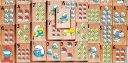 Играть Смурфики Классический Маджонг онлайн