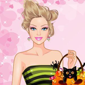 Играть Барби на Хэллоуине онлайн