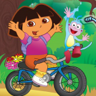 Играть Даша на велосипеде онлайн