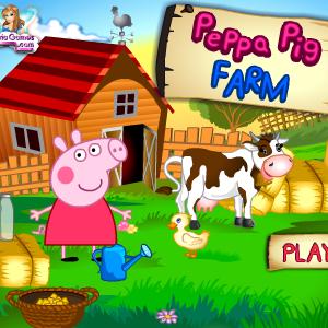 Играть Ферма Свинки Пеппы онлайн