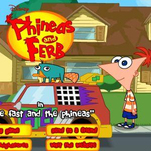 Играть Финис и Ферб гонки онлайн
