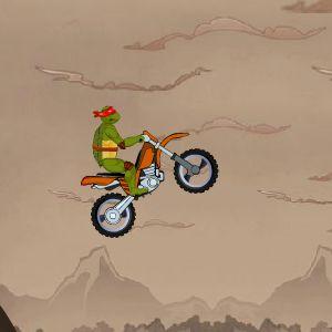 Играть Ниндзя Черепашки на мотоцикле онлайн