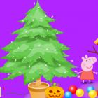 Играть Новогодняя елка Свинка Пеппа онлайн