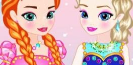 Играть Одевалки Эльзы и Анны онлайн
