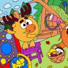 Играть Смешарики — Раскраска: Уроки Лосяша онлайн