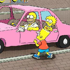 Играть Симпсоны: Парковка онлайн