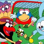 Играть Смешарики. Раскраска: Хоккей на траве онлайн