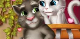 Играть Том и Анжела Поцелуи онлайн
