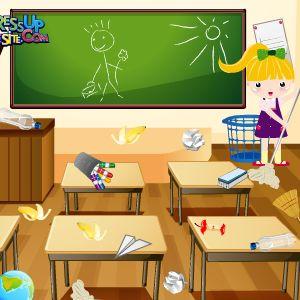 Играть Уборка в школе онлайн