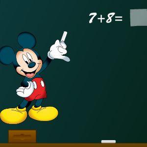 Играть Математика с Микки Маусом онлайн