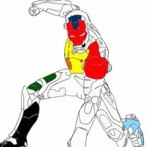 Играть Раскраска Железный Человек онлайн