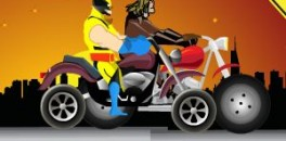 Играть Росомахи на мотоцикле онлайн