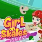 Играть Девушка на роликах: пицца онлайн