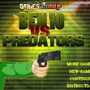 Играть Бен 10 против хищников онлайн