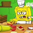 Играть Спанч Боб готовит гамбургеры онлайн