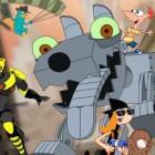 Играть Финис и Ферб против роботов онлайн