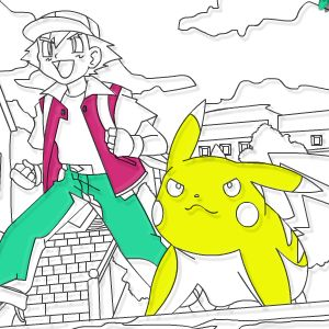 раскраски покемон Pokemon Forever Online Coloring Page