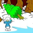 Играть Смурфики Новый год онлайн